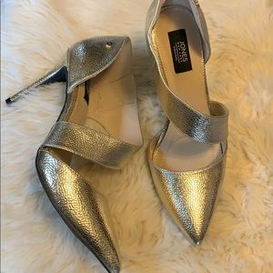 Jones New York Collette gold heels NWOT size 8